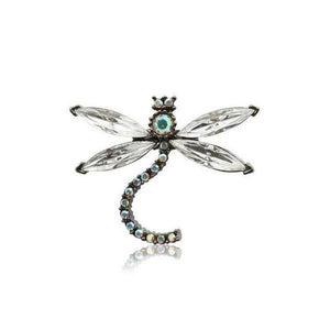 Small Swarovski Crystal Dragonfly Hair Clip-Clips & slides-Swarovski Crystal-AB Crystal-Tegen Accessories