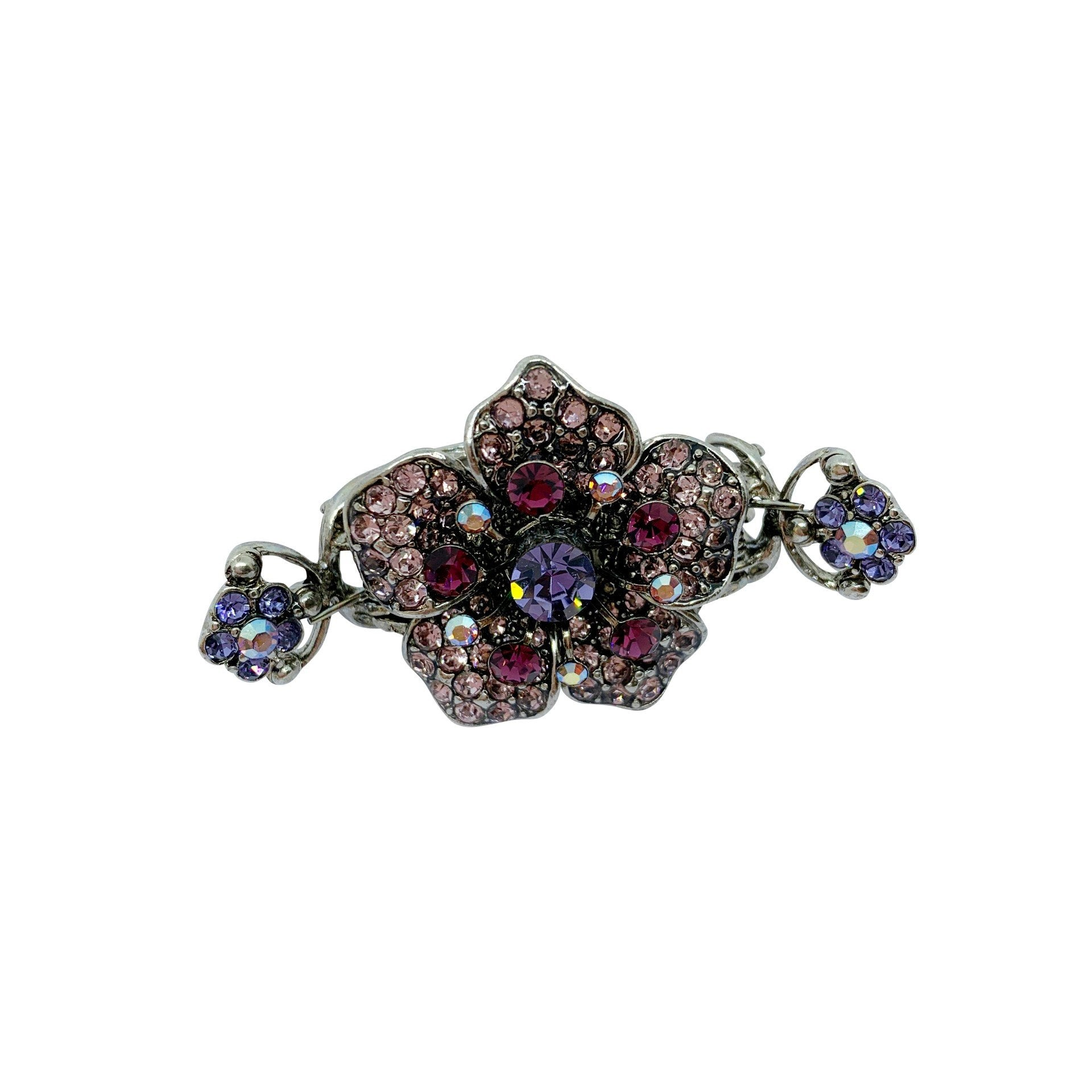 Small Swarovski Crystal Flower Hair Claw - Swarovski Crystal - Hair Claw - Tegen Accessories - Purple
