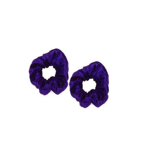 Small Velvet Scrunchie x2-Scrunchies-Tegen Accessories-Blue-Tegen Accessories