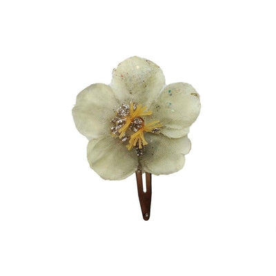 Sparkle Flower Hair Clip-Discontinued-Stone Grey-Tegen Accessories