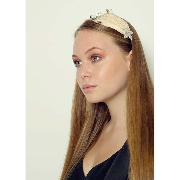 Sparkle Star Crystal and Feather Headband-Headbands-Rosie Fox-Nude-Tegen Accessories Nude