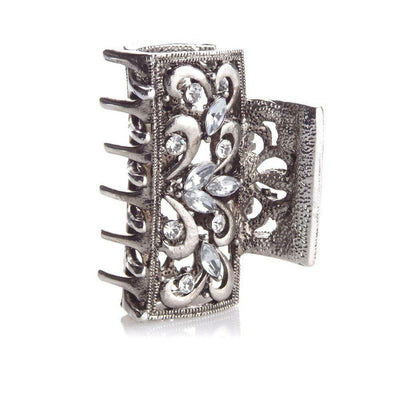 Square Art Deco Metal Hair Claw-Hair claws-Rosie Fox-Tegen Accessories