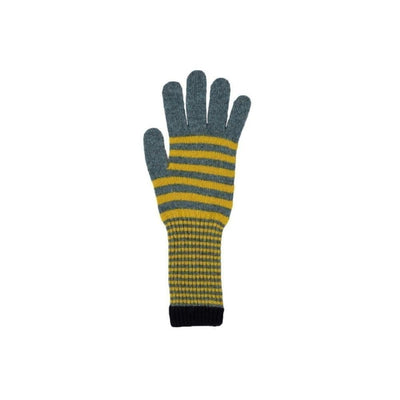 Stripe Lambswool Gloves-Discontinued-Tegen Accessories