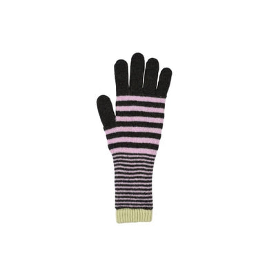 Stripe Lambswool Gloves-Discontinued-Botanical-Tegen Accessories