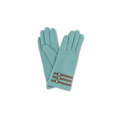 Suzy Wool Gloves-Discontinued-Sea Green-Tegen Accessories