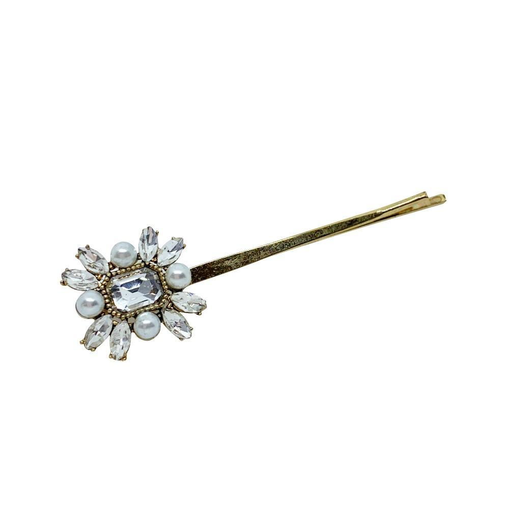 Swarovski Crystal Art Deco Hair Slide-Swarovski Crystal-Clips & Slides-Tegen Accessories-Pearl