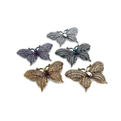 Swarovski Crystal Butterfly Brooch-Discontinued-Tegen Accessories