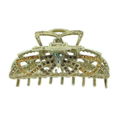 Swarovski Crystal Deco Hair Claw-Discontinued-Gold-Tegen Accessories