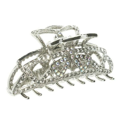 Swarovski Crystal Deco Hair Claw-Discontinued-Silver-Tegen Accessories