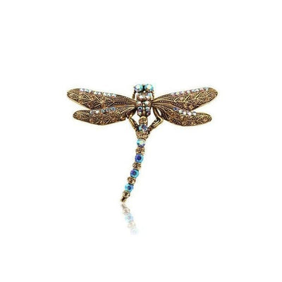 Swarovski Crystal Dragonfly Hair Clip-Discontinued-Tegen Accessories