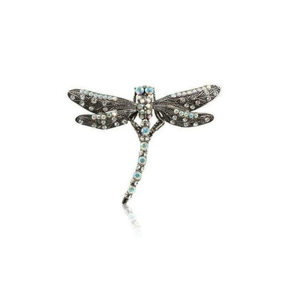 Swarovski Crystal Dragonfly Hair Clip-Discontinued-AB Crystal-Tegen Accessories