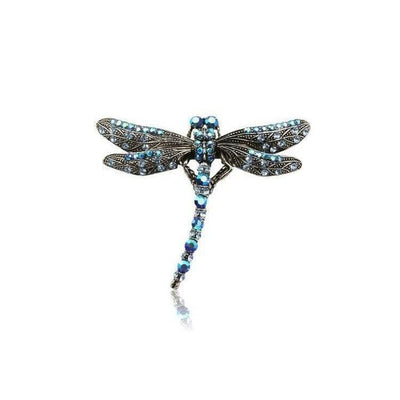 Swarovski Crystal Dragonfly Hair Clip-Discontinued-Blue Crystal-Tegen Accessories