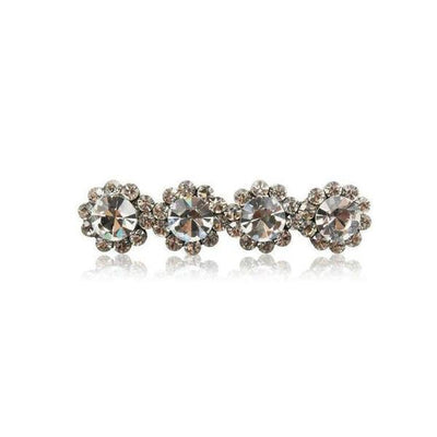 Swarovski Crystal Four Flower Hair Clip-Discontinued-Clear Crystal-Tegen Accessories
