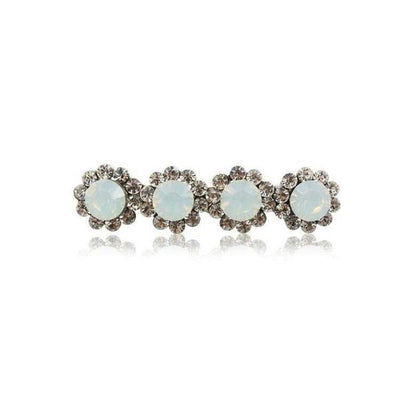 Swarovski Crystal Four Flower Hair Clip-Discontinued-White Opal-Tegen Accessories