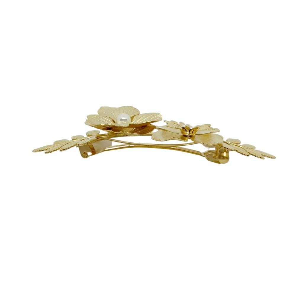 Swarovski Crystal Gold embellished Barrette - Parkside - Tegen Accessories