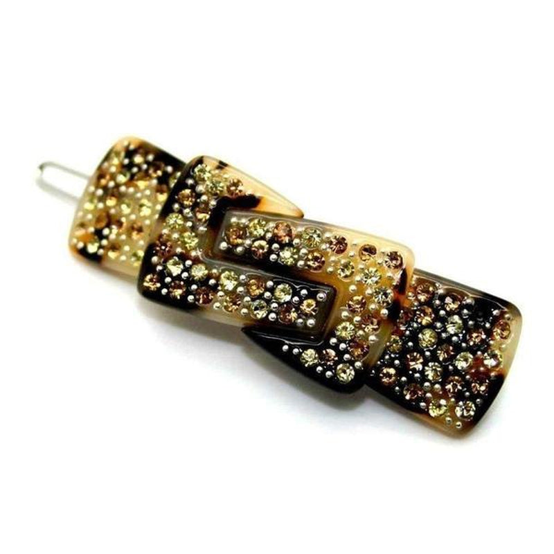 Swarovski Crystal Knot Hair Clip-Discontinued-Gold Crystal-Tegen Accessories