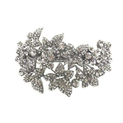Swarovski Crystal Maple Leaf Barrette-Discontinued-Clear Crystal-Tegen Accessories