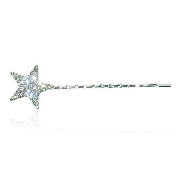 Swarovski Crystal Mini Silver Star Hair Slide-Discontinued-Clear Crystal-Tegen Accessories
