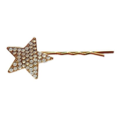 Swarovski Crystal Star Hair Slide-Discontinued-Clear Crystal-Tegen Accessories