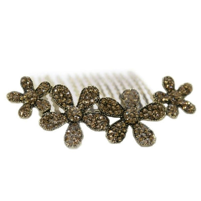 Swarovski Daisy Comb-Hair combs-Swarovski Crystal-Gold-Tegen Accessories