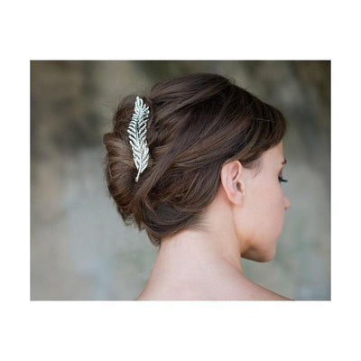 Swarovski Feather Hair Ornament-Beak clips-Swarovski Crystal-Tegen Accessories