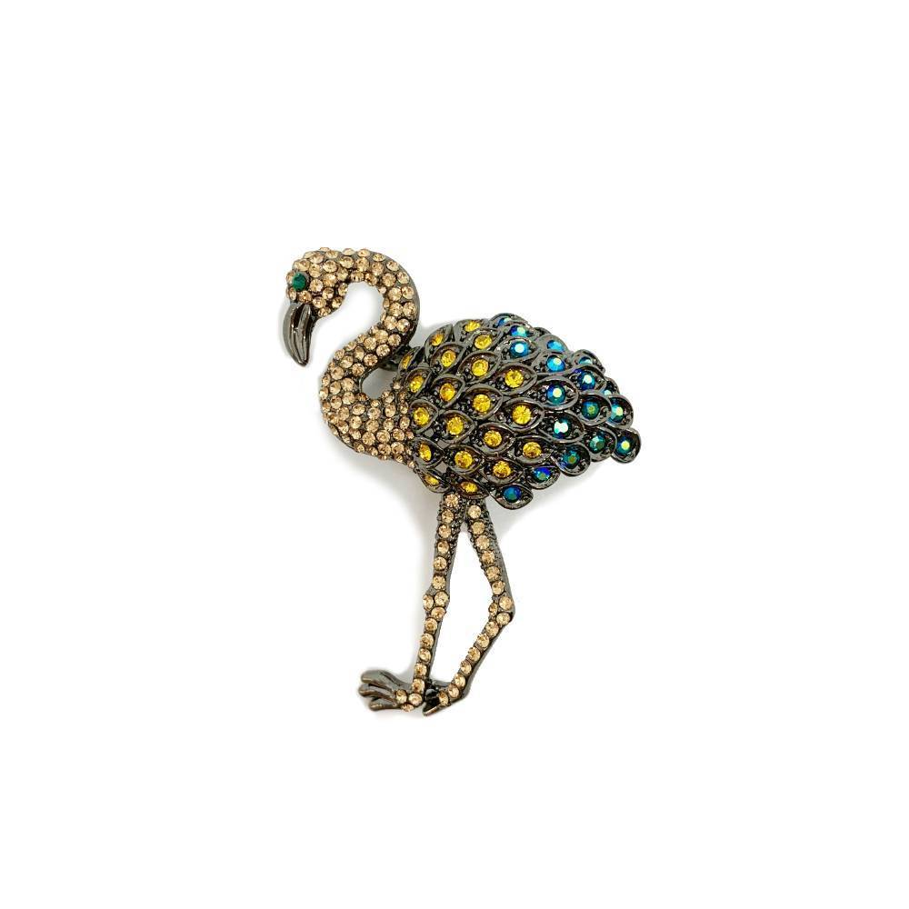 Swarovski Flamingo Brooch - Parkside - Purple
