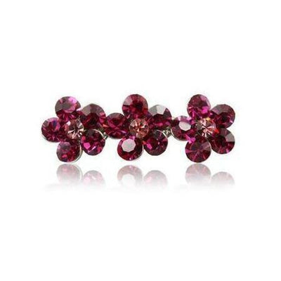 Swarovski Flower Hair Clip-Discontinued-Tegen Accessories