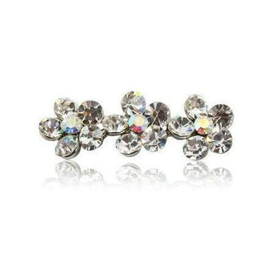 Swarovski Flower Hair Clip-Discontinued-Clear Crystal-Tegen Accessories