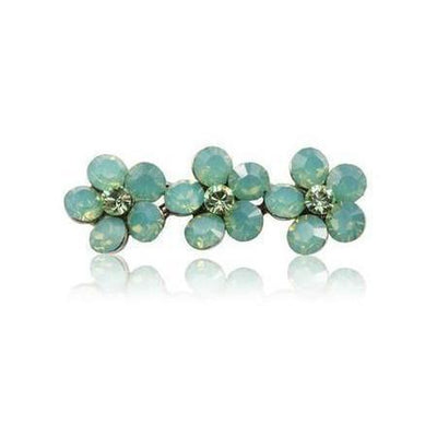Swarovski Flower Hair Clip-Discontinued-Green Opal-Tegen Accessories