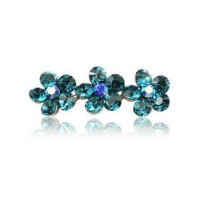 Swarovski Flower Hair Clip-Discontinued-Jade Crystal-Tegen Accessories