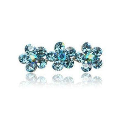 Swarovski Flower Hair Clip-Discontinued-Light Blue Crystal-Tegen Accessories