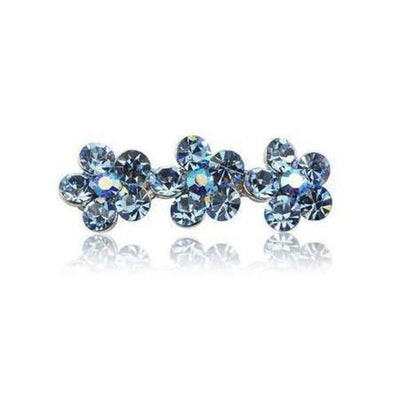 Swarovski Flower Hair Clip-Discontinued-Navy Crystal-Tegen Accessories