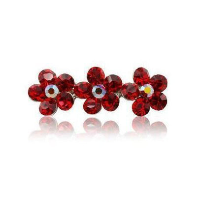 Swarovski Flower Hair Clip-Discontinued-Red Crystal-Tegen Accessories