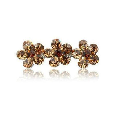 Swarovski Flower Hair Clip-Discontinued-Topaz Crystal-Tegen Accessories