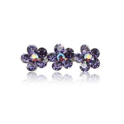 Swarovski Flower Hair Clip-Discontinued-Violet Crystal-Tegen Accessories