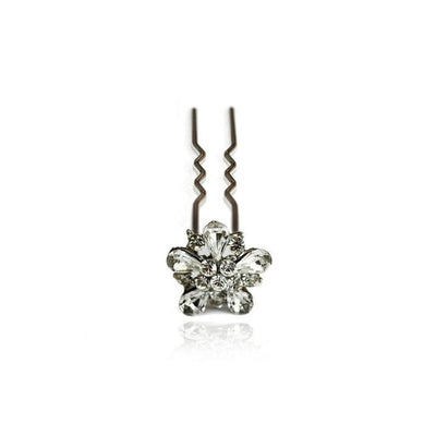 Swarovski Flower Hair Pin-Discontinued-Clear Crystal-Tegen Accessories