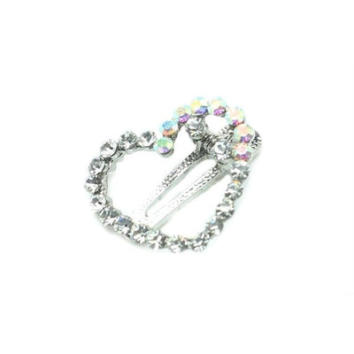 Swarovski Heart Clip-Discontinued-Clear Crystal-Tegen Accessories