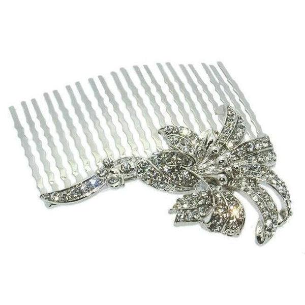 Swarovski Lily Hair Comb-Discontinued-Silver-Tegen Accessories