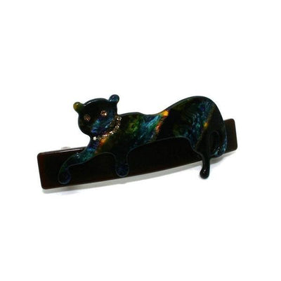 Swarovski Panther Barrette-Discontinued-Blue Marble-Tegen Accessories