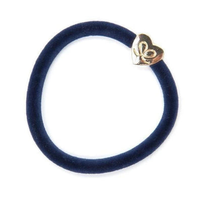 Velvet Charm Hairband-Elastics-by Eloise-Navy-Tegen Accessories