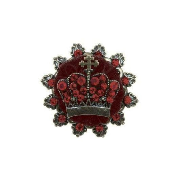 Velvet Crown Brooch-Brooches-Rosie Fox-Red-Tegen Accessories