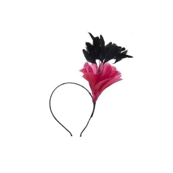 Vintage Feather Fascinator-Fascinators-Rosie Fox-Headband-Pink-Tegen Accessories Pink