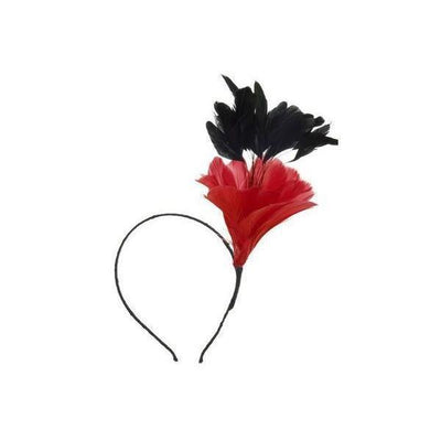 Vintage Feather Fascinator-Fascinators-Rosie Fox-Headband-Red-Tegen Accessories