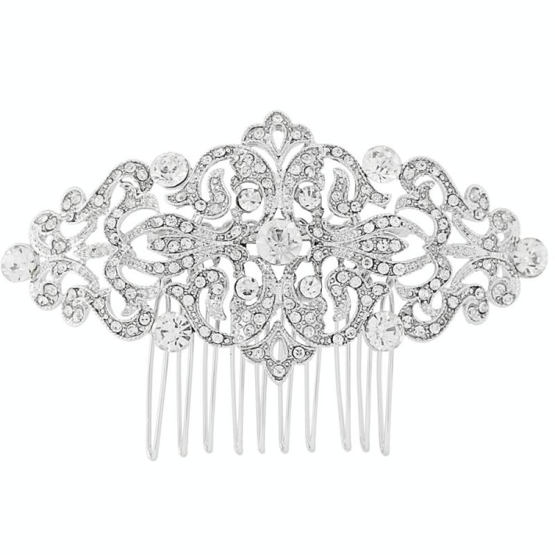 Vintage Luxe Crystal Comb-Hair combs-Bridal-Tegen Accessories