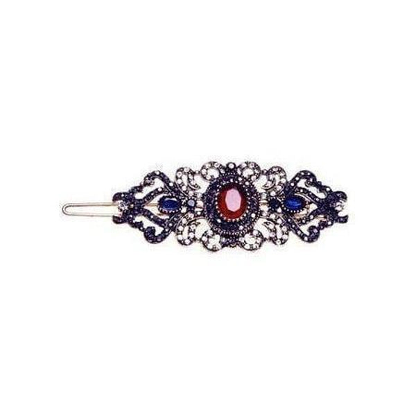 Vintage Ruby Victoria Crystal Hair Clip-Discontinued-Red-Tegen Accessories