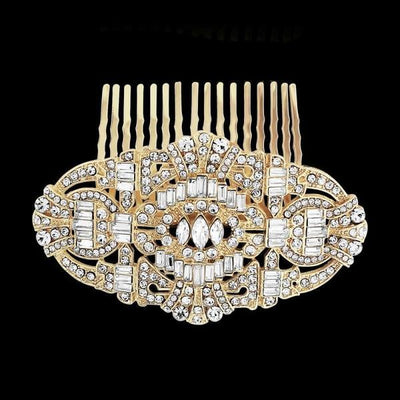 Vintage Style Crystal Comb-Hair combs-Bridal-Tegen Accessories