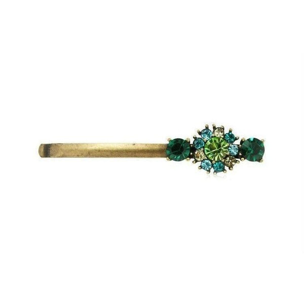 Vintage Swarovski Crystal Hair Slide-Swarovski Crystal-Green Opal-Tegen Accessories