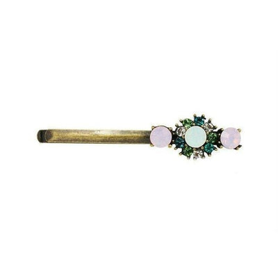 Vintage Swarovski Crystal Hair Slide-Discontinued-Pink Opal-Tegen Accessories