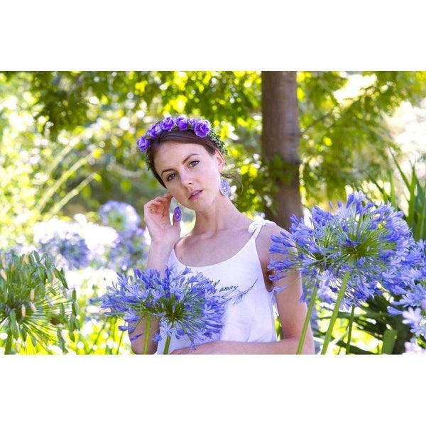 Violet Flower Crown-Hair flowers-Rosie Fox-Purple-Tegen Accessories