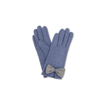 Violet Wool Gloves-Discontinued-French Navy-Tegen Accessories